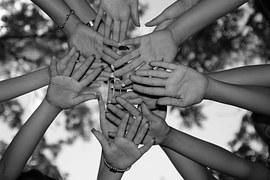 mains ensemble unité